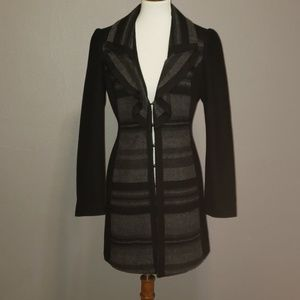 White House Black Market long black gray jacket